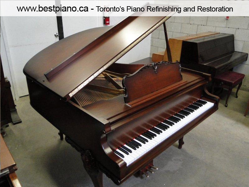 piano restoration project after phone